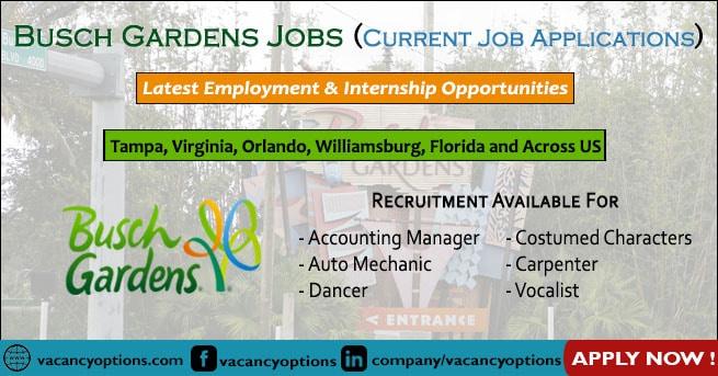 Busch Gardens Jobs